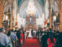 Jamie Stein and Jason Safier get married in St. Mary's High Hill Catholic Church
